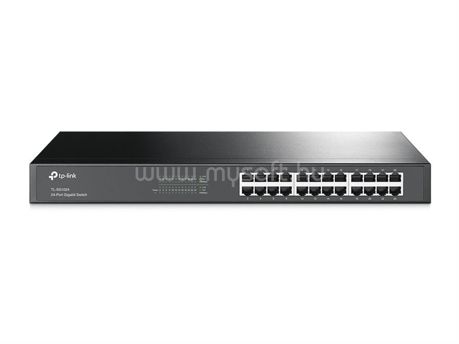TP-LINK 24 portos Gigabites Rackbe szerelhető Switch