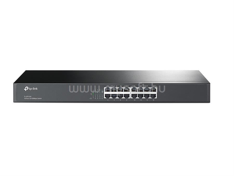 TP-LINK 16 portos 10/100 Mb/s Rackbe szerelhető Switch