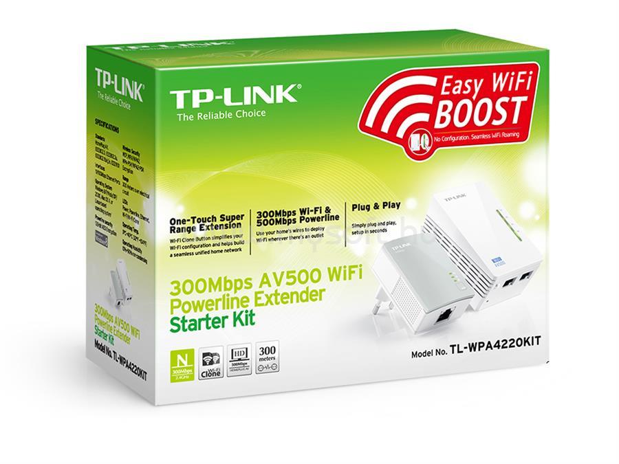 TP-LINK 300Mbps AV500 Áramköri jeltovábbító készlet TL-WPA4220-KIT large