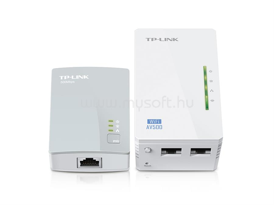 TP-LINK 300Mbps AV500 Áramköri jeltovábbító készlet