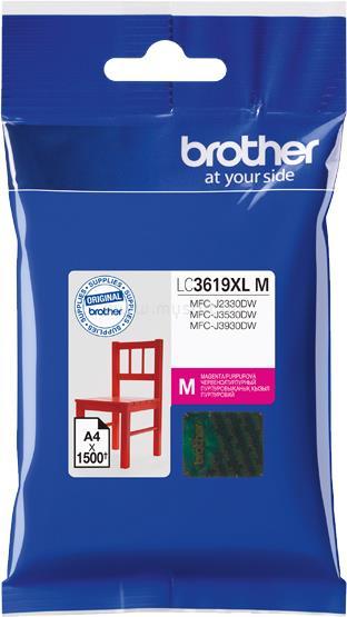 BROTHER Tintapatron LC3619M, Ultra nagy kapacitású - 1500 oldal, Magenta