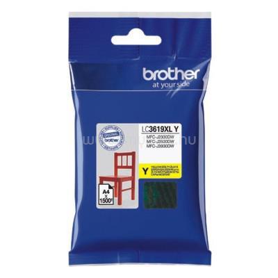 BROTHER Tintapatron LC3619Y, Ultra nagy kapacitású - 1500 oldal, Sárga
