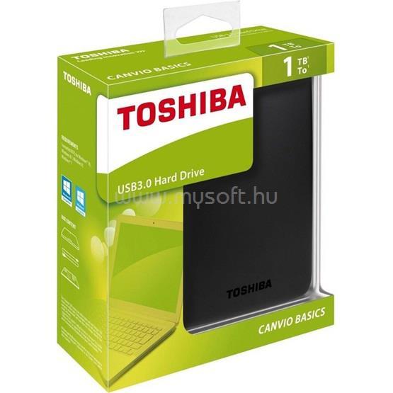 "TOSHIBA HDD 1TB 2,5"" USB3.0 Canvio Basic, Fekete"