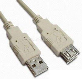 WIRETEK Kábel USB Hosszabbító A-A, 5m, Male/FeMale