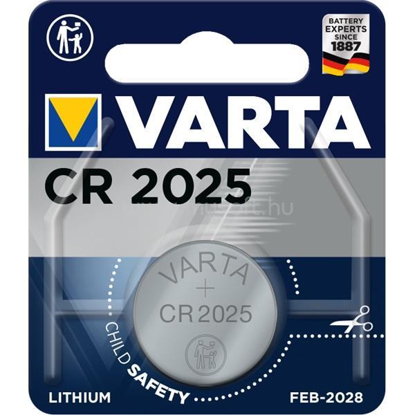 VARTA CR2025  lítium gombelem 1db/bliszter