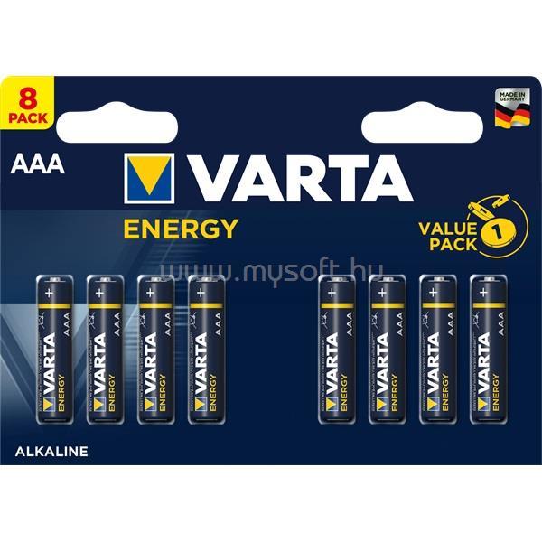 VARTA Energy AAA (LR03) alkáli mikro ceruza elem 8db/bliszter