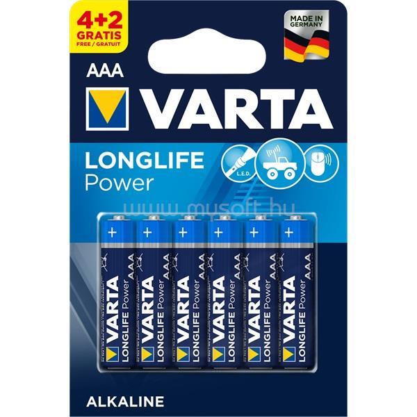 VARTA Helps Longlife Power AAA (LR03) mikro ceruza elem 4+2db/bliszter