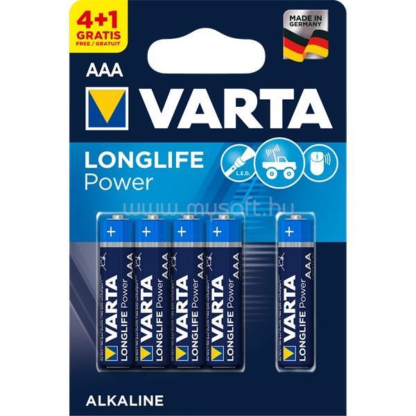 VARTA Longlife Power AAA (LR03) alkáli mikro ceruza elem 4+1db/bliszter