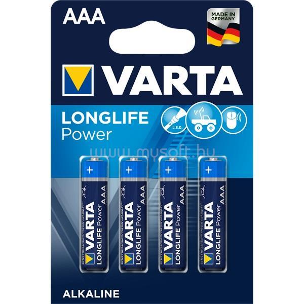 VARTA Longlife Power AAA (LR03) alkáli mikro ceruza elem 4db/bliszter