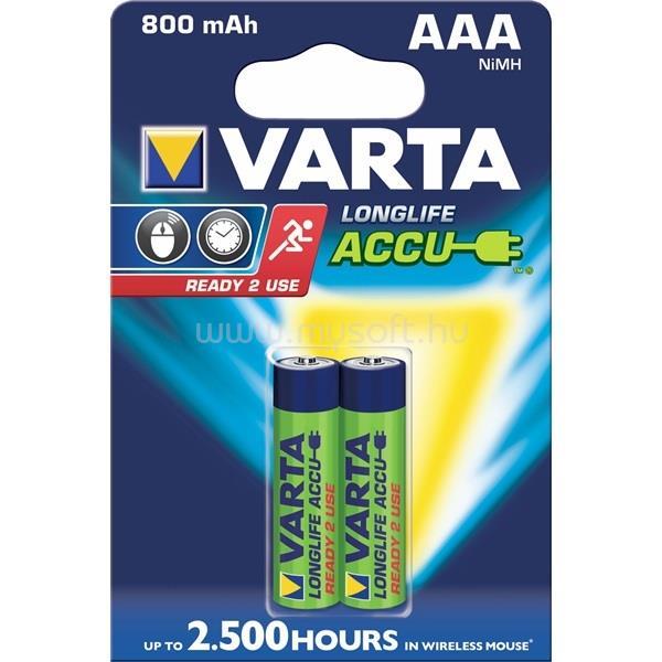 VARTA Ready2Use AAA (HR03) 800mAh akkumulátor 2db/csomag