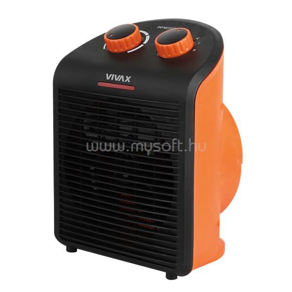 VIVAX FH-2081B ventilátoros hősugárzó, 1000W / 2000W, hőfokszabályozás narancs színű