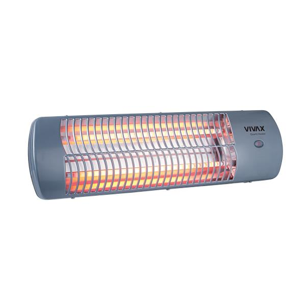 VIVAX QH-1202 quarz fűtőtest 1200W, 2 fűtőszál, falra szerelhető