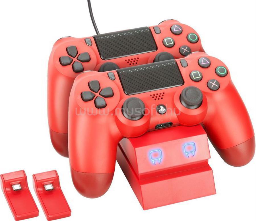 VENOM VS2738 PS4 Dupla Töltőállomás (piros)