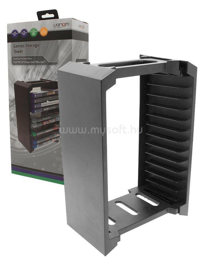 VENOM PS3/PS4/Xbox One/ Blu-ray 12 db-os tartó állvány