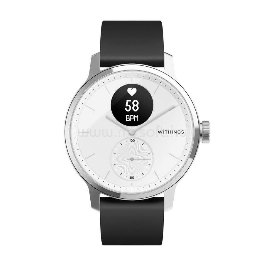 WITHINGS Scanwatch 42mm aktivitásmérő óra fehér (HWA09-model 3-All-Int)