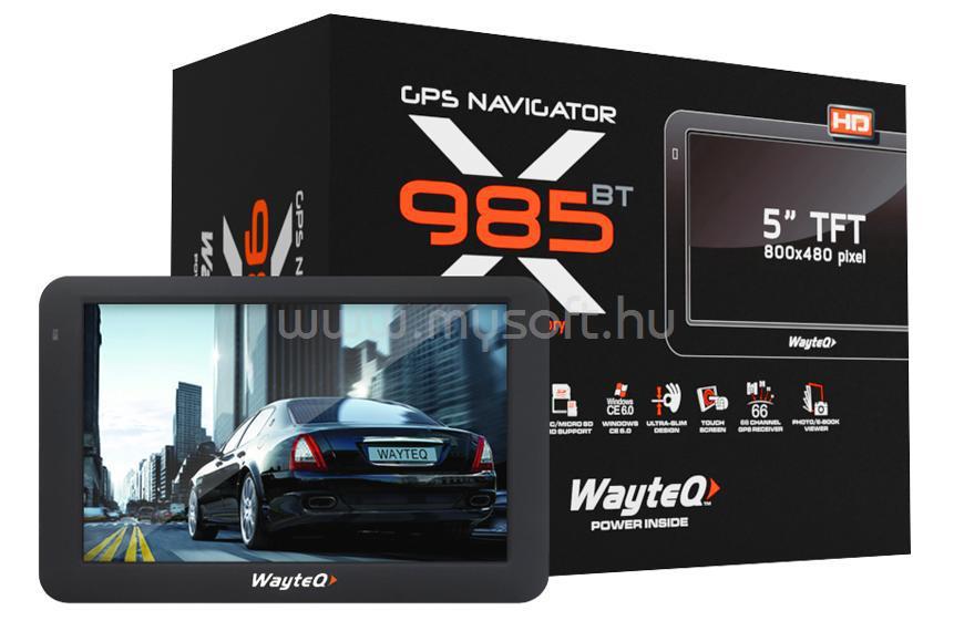WAYTEQ X985 BT HD GPS Navigáció