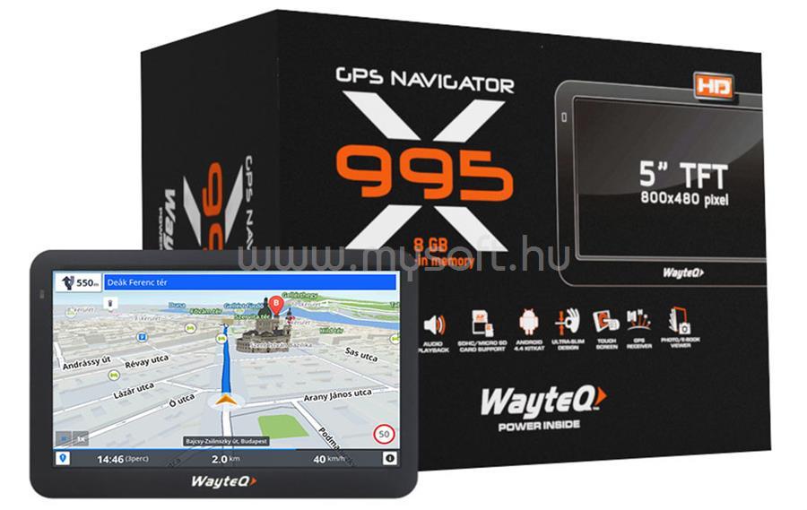 WAYTEQ X995 Android GPS Navigáció  + Sygic Full EU Szoftver