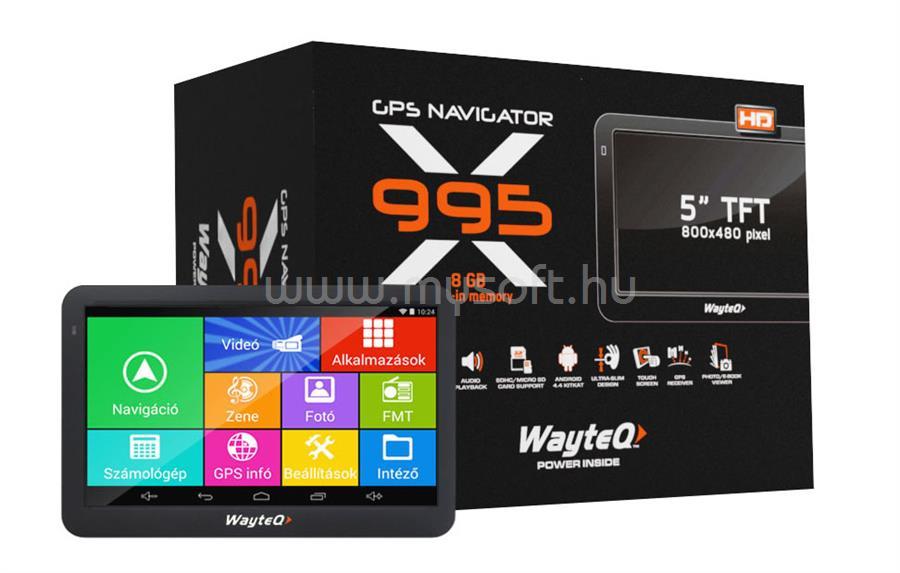WAYTEQ X995 Android GPS Navigáció WX995 large