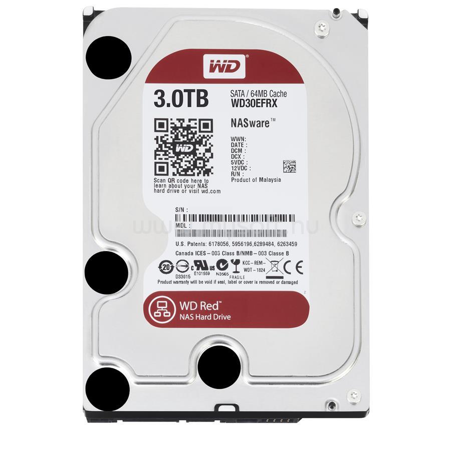 "WESTERN DIGITAL HDD 3TB 3,5"" SATA 5400RPM 64MB Cache Caviar Red"