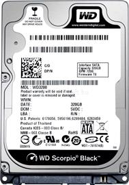 "Western Digital 2.5"" HDD SATA III 320GB 7200rpm 16MB Cache BLACK, WD3200BEKX"