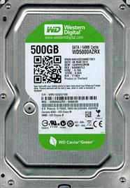 "Western Digital 3.5"" HDD SATA-III 500GB 7200rpm 64MB Cache CAVIAR Green, WD5000AZRX"