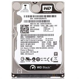 "Western Digital OEM 2.5"" HDD SATA III 500GB 7200rpm 16MB Cache BLACK, WD5000BPKX"