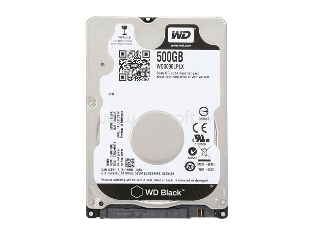 "WESTERN DIGITAL OEM HDD 500GB 7mm 2,5"" SATA 7200RPM 32MB Cache Black"