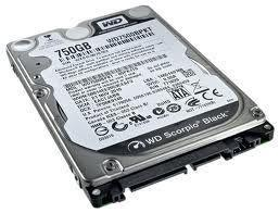 "Western Digital OEM 2.5"" HDD SATA 750GB 7200rpm 16MB Cache BLACK, WD7500BPKX"