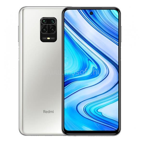 "XIAOMI Redmi Note 9 Pro 6,67"" LTE 6/64GB Dual SIM Glacier White okostelefon"