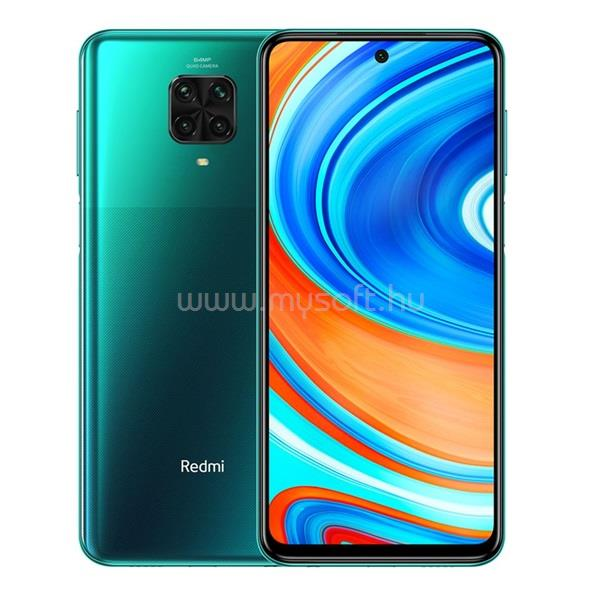 "XIAOMI Redmi Note 9 Pro 6,67"" LTE 6/64GB Dual SIM Tropical Green okostelefon"