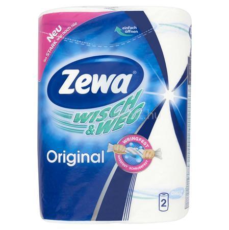"""ZEWA Háztartási papírtörlő, 2 rétegű, 2 tekercses, """"Wisch&Weg Original"""""""
