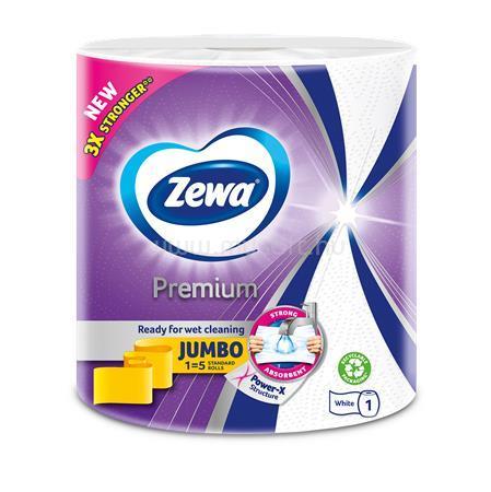 """ZEWA Háztartási papírtörlő, 3 rétegű, tekercses, 230 lap, """"Premium Jumbo"""""""