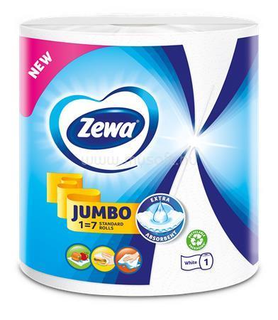 """ZEWA Háztartási papírtörlő, 2 rétegű, tekercses, 325 lap, """"Jumbo White"""""""