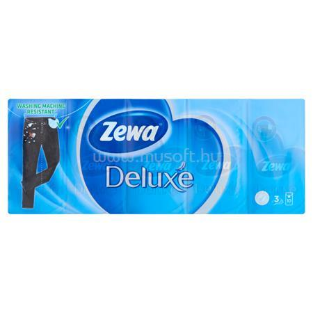 """ZEWA Papír zsebkendő, 3 rétegű, 10x10 db, """"Deluxe"""", illatmentes"""
