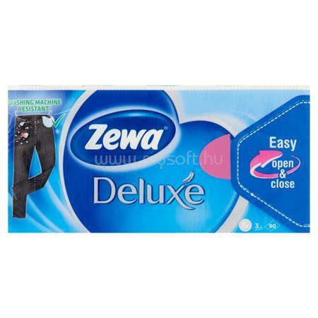 """ZEWA Papír zsebkendő, 3 rétegű, 90 db, """"Deluxe"""", illatmentes"""