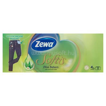 """ZEWA Papír zsebkendő, 4 rétegű, 10x9 db, """"Softis"""", aloe balsam"""