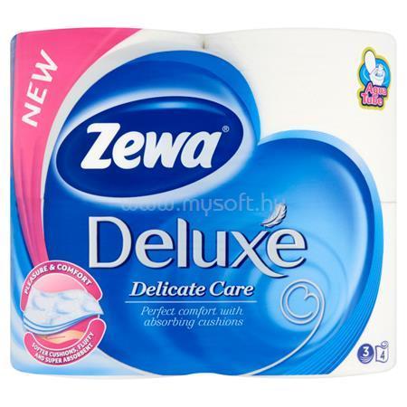"""ZEWA Toalettpapír, 3 rétegű, 4 tekercses, """"Deluxe"""", fehér"""