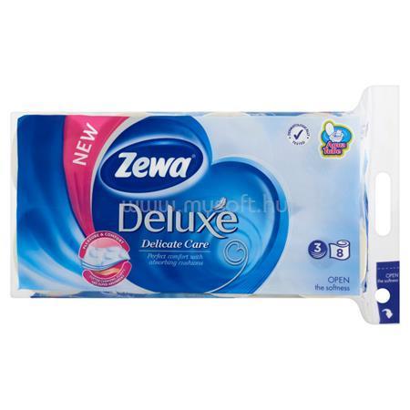 """ZEWA Toalettpapír, 3 rétegű, 8 tekercses, """"Deluxe, fehér"""
