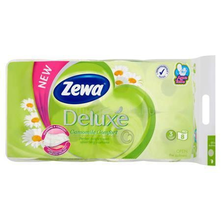 """ZEWA Toalettpapír, 3 rétegű, 8 tekercses, """"Deluxe, kamilla"""
