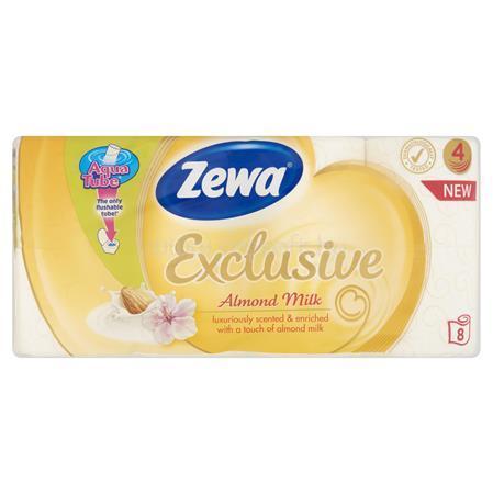 """ZEWA Toalettpapír, 4 rétegű, 8 tekercses, """"Exclusive"""", almond milk"""