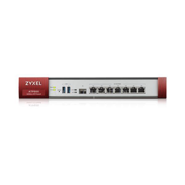 ZYXEL Tűzfal - ATP500 - 7 Gigabit user-definable ports, 1*SFP, 2* USB with 1 Yr Bundle