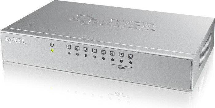 ZYXEL ES-108A V3 Asztali Fast Ethernet Fémházas Switch 8 Porttal