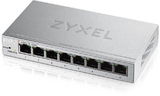 ZYXEL 8port GbE LAN web menedzselhető asztali switch