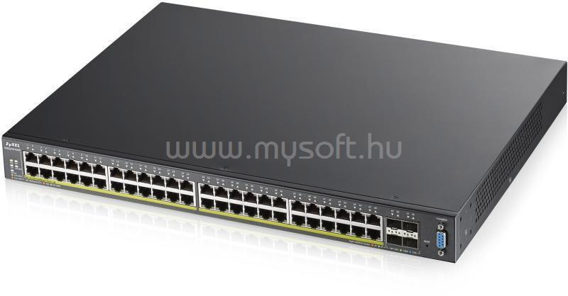 ZYXEL Switch 24x1000Mbps + 4X10GBE SFP + PORT L2+ Menedzselhető