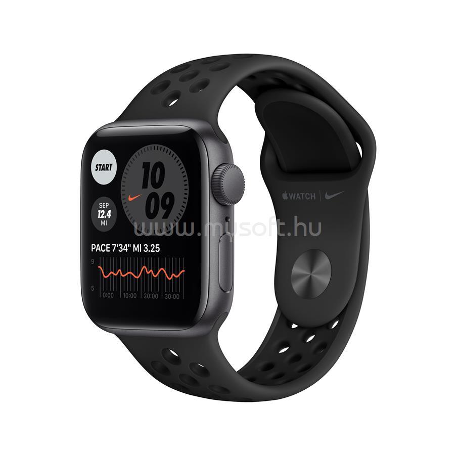 APPLE Watch Nike S6 GPS 40mm (asztroszürke, fekete szíjjal)