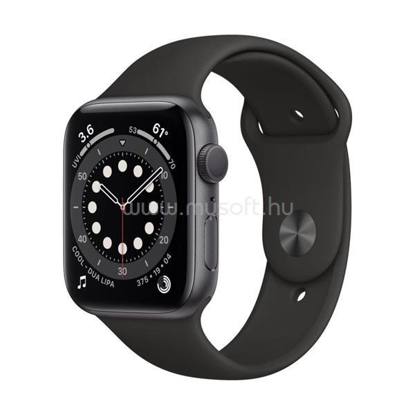 APPLE Watch Series 6 GPS-es 40mm asztroszürke alumíniumtok fekete sportszíjas okosóra