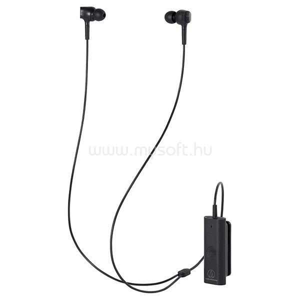 AUDIO-TECHNICA ATH-ANC100BT Bluetooth aktív zajszűrős fekete fülhallgató headset