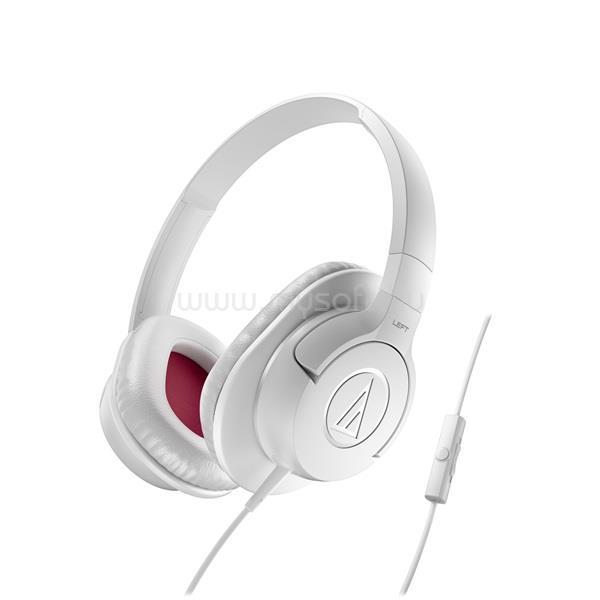 AUDIO-TECHNICA ATH-AX1iSWH SonicFuelT fehér  mikrofonos fejhallgató