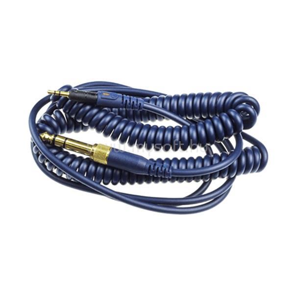 AUDIO-TECHNICA ATH-M50x/ATH-M40x fejhallgatókhoz 3m tekercselt kék kábel