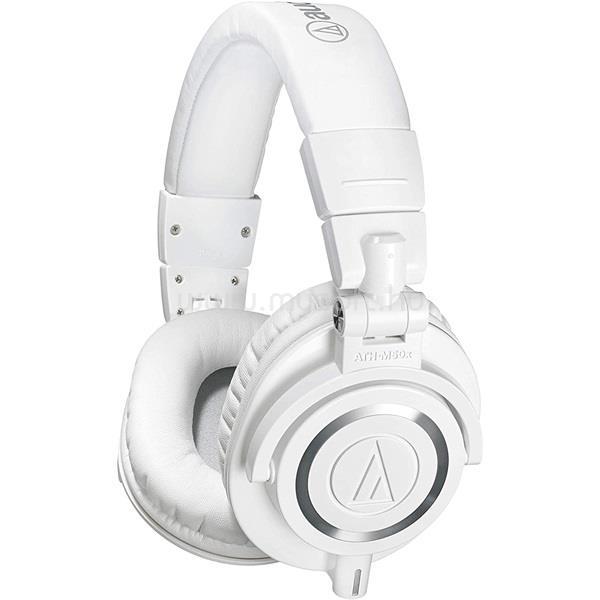 AUDIO-TECHNICA ATH-M50XWH professzionális stúdió minőségű fehér monitor fejhallgató